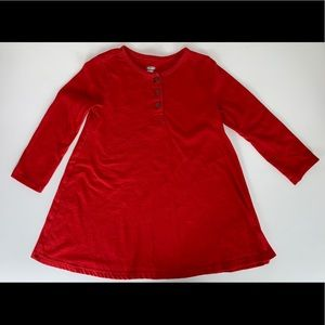 Old Navy 2T long sleeve red dress.